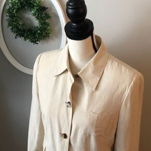 Issac Mizrahi vintage silk and linen blend blazer